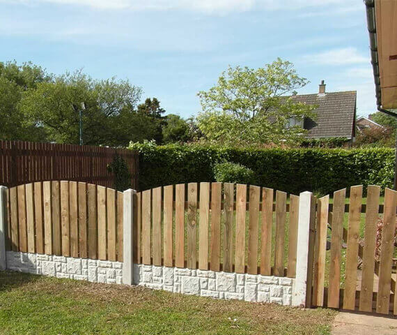 Harker Arched Palisade 6x3 Wooden Fence Panels