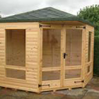 8ft x 8ft corner summerhouse